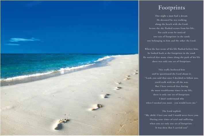 Footprints - Fotsteg i sanden