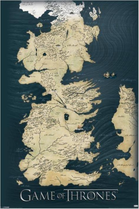 Game of Thrones - Map of Westeros and Essos