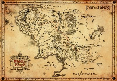 Pergamentkarta - Lord of the rings