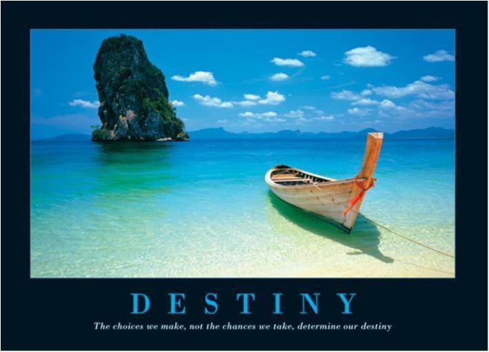 Destiny - Båt på perfekt strand
