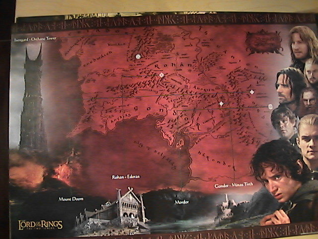 Lord of the Rings: The Two Towers - Rohan & Gondor map