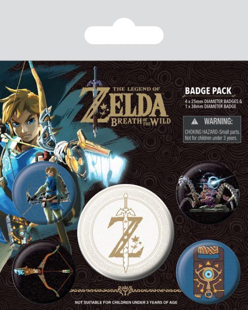 Knappsats - Badge Pack - The Legend of Zelda: Breath Of The Wild (Z Emblem)