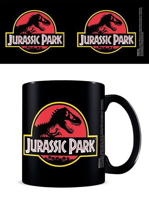 Jurassic Park (Classic Logo) Black - Mugg
