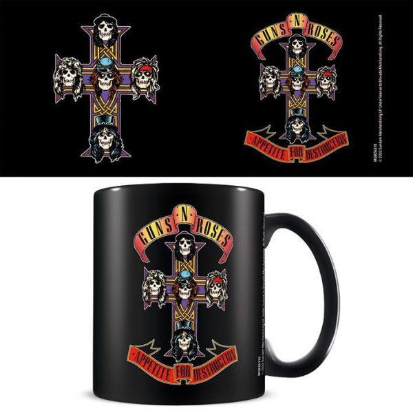 Guns N' Roses (Appetite Cross) Black - Mugg