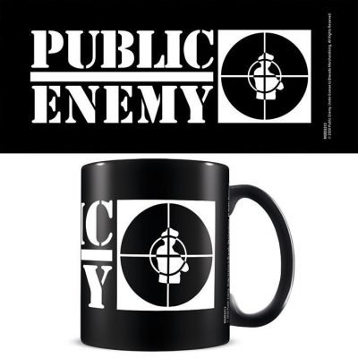 Public Enemy (Crosshairs Logo) Black - Mugg