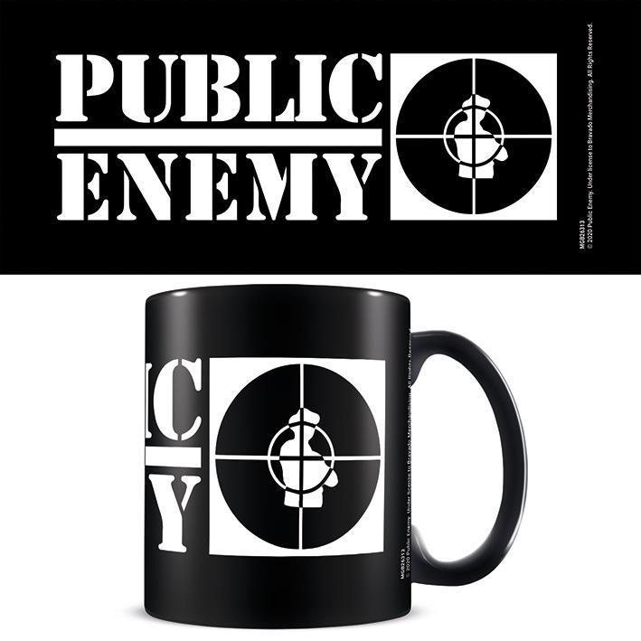 Public Enemy (Crosshairs Logo) Black - Mugg