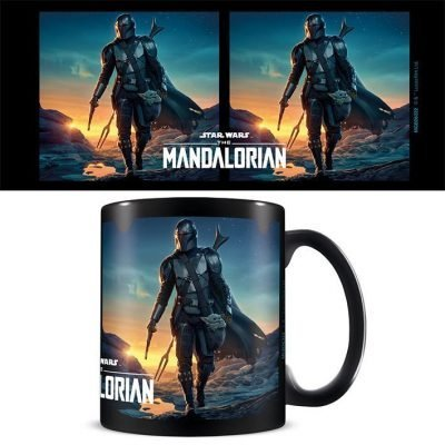 Star Wars: The Mandalorian (Nightfall) Black - Mugg