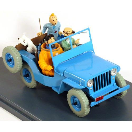 Tintin - 1:24 Modellbil #3 - Blue Willys