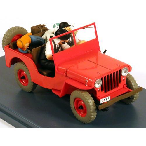 Tintin - 1:24 Modellbil #6 - Red Jeep