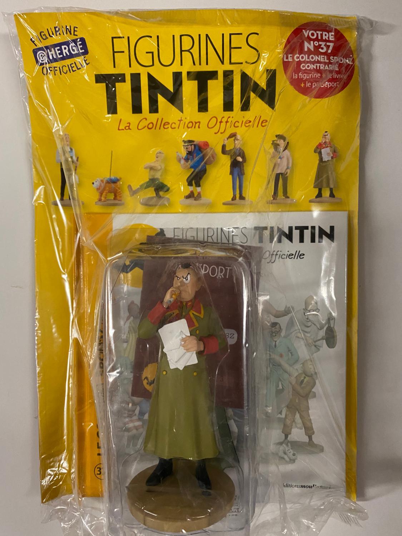 Tintin - Statyett N37 - Le Colonel Sponz Contrarié - RARE