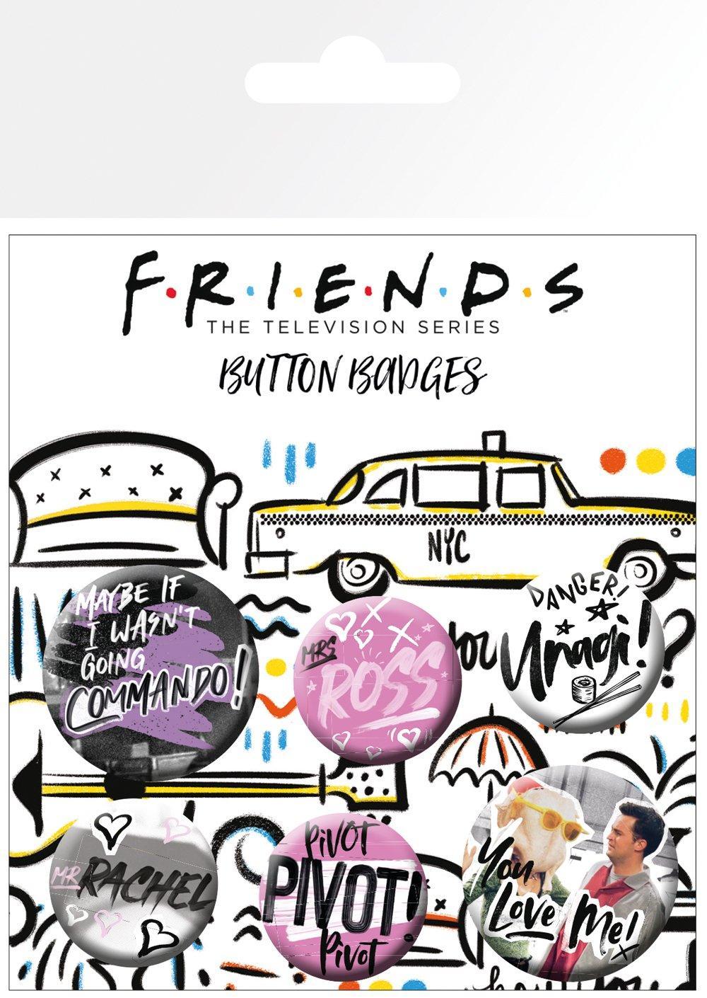 Knappsats - Badge Pack - Friends - Doodle