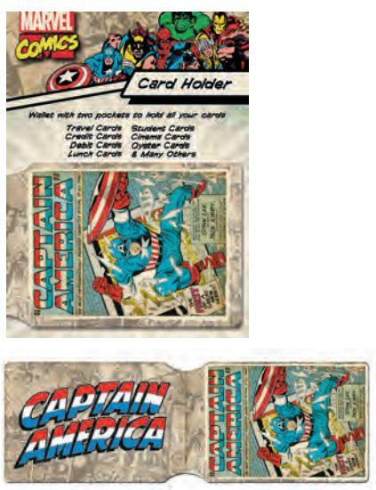 Korthållare - Captain America - Marvel