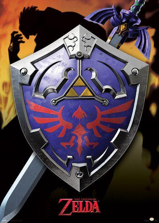 Legend of Zelda - Hylian Shield (Metallic poster)