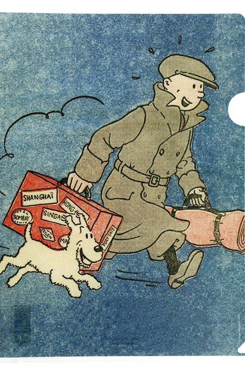 Tintin - Plastficka A4 - Tintin med bagage - Det sönderslagna örat