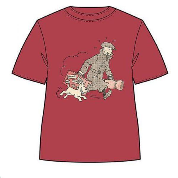 Tintin - T-Shirt - Tintin och Milou springer