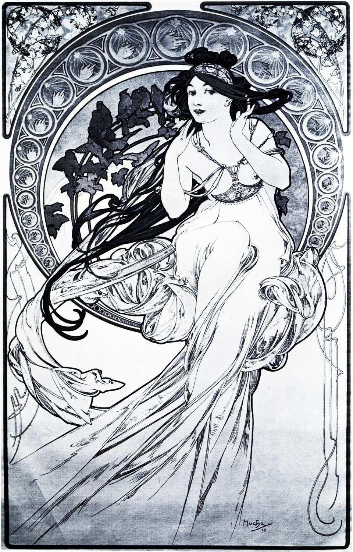 A3 Print - Alphonse Mucha - No7