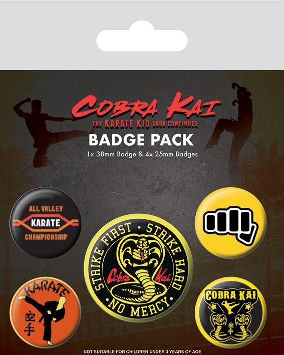 Knappsats - Badge Pack - Cobra Kai (No Mercy)