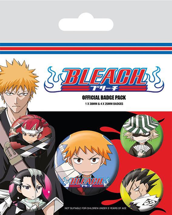 Knappsats - Badge Pack - Bleach (Chibi Characters)