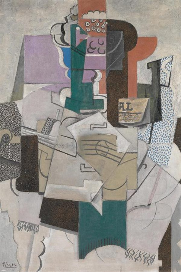 Picasso (Fruit Dish, Bottle and Violin)