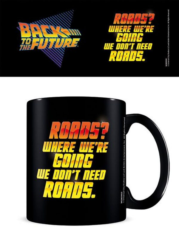 Back to the Future (We Don't Need Roads) Black - Mugg