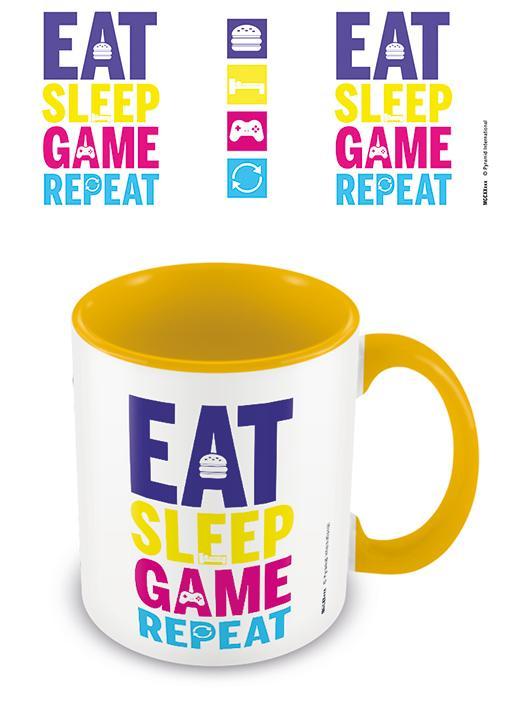Eat, Sleep, Game, Repeat (Gaming) Yellow - Mugg