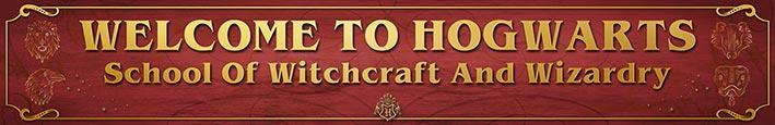Harry Potter (Welcome to Hogwarts) - Exklusivt tryck på trä.13 x 80cm