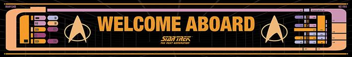 Star Trek (Welcome aboard) - Exklusivt tryck på trä.13 x 80cm