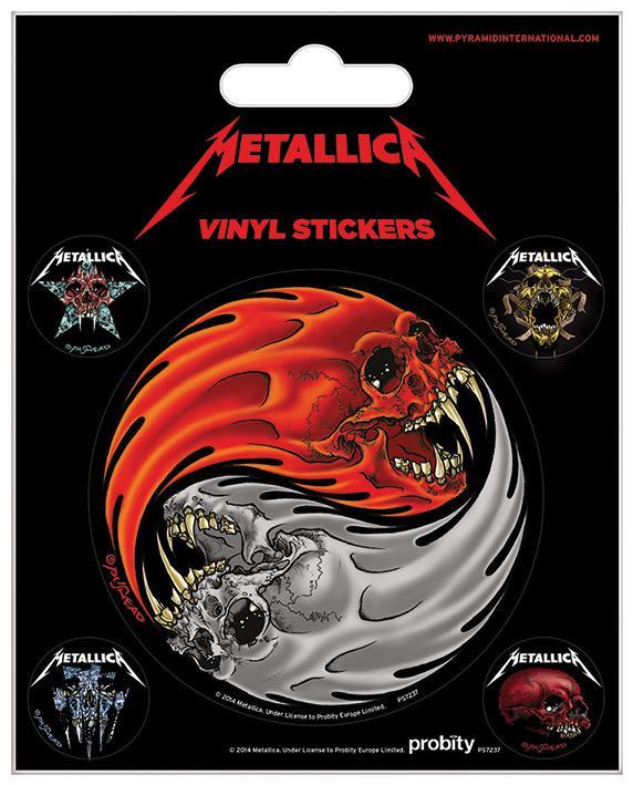 Vinyl Sticker Pack - Klistermärken - Metallica (Yin & Yang Skulls - Pushead)