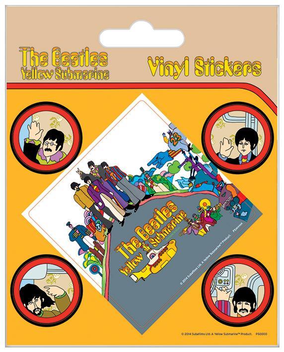 Vinyl Sticker Pack - Klistermärken - The Beatles (Yellow Submarine)