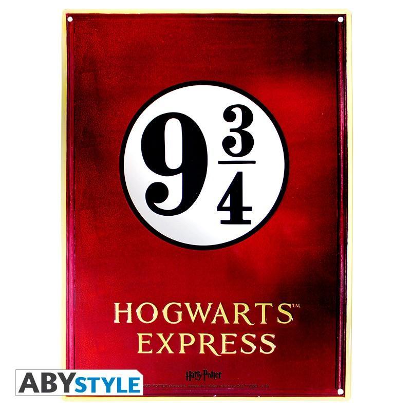 Metalskylt - Harry Potter - Plattform 9 3/4
