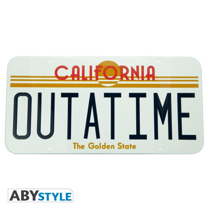 Metalskylt - Back to the future - OUTATIME