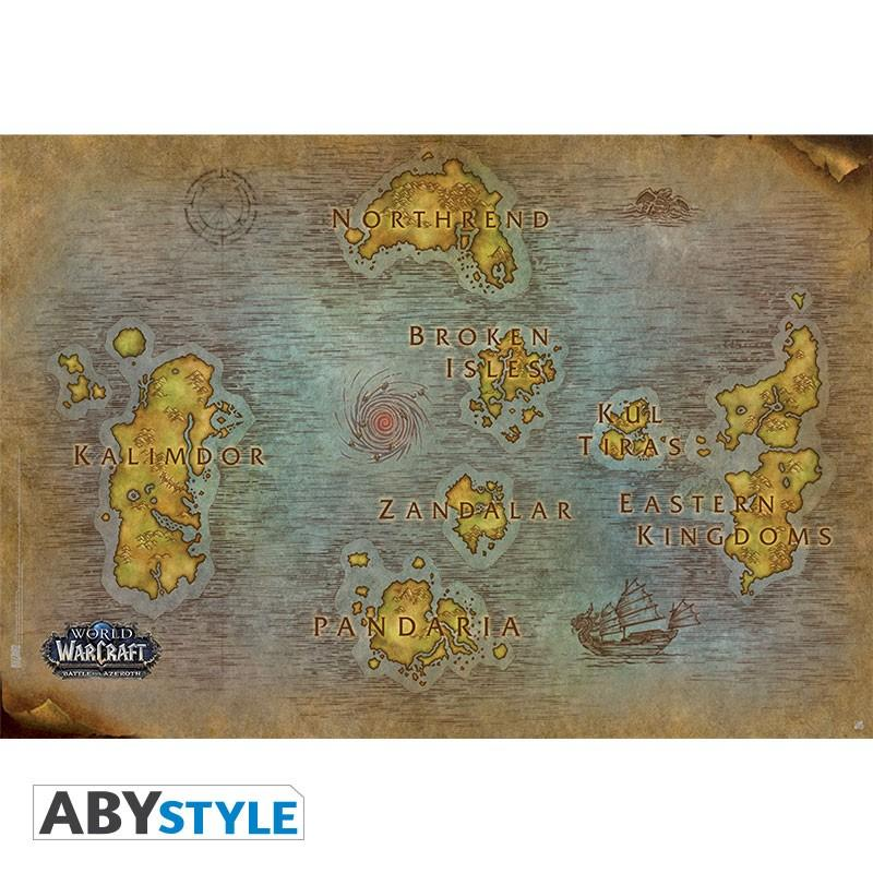 """WORLD OF WARCRAFT - Poster """"Map"""""""