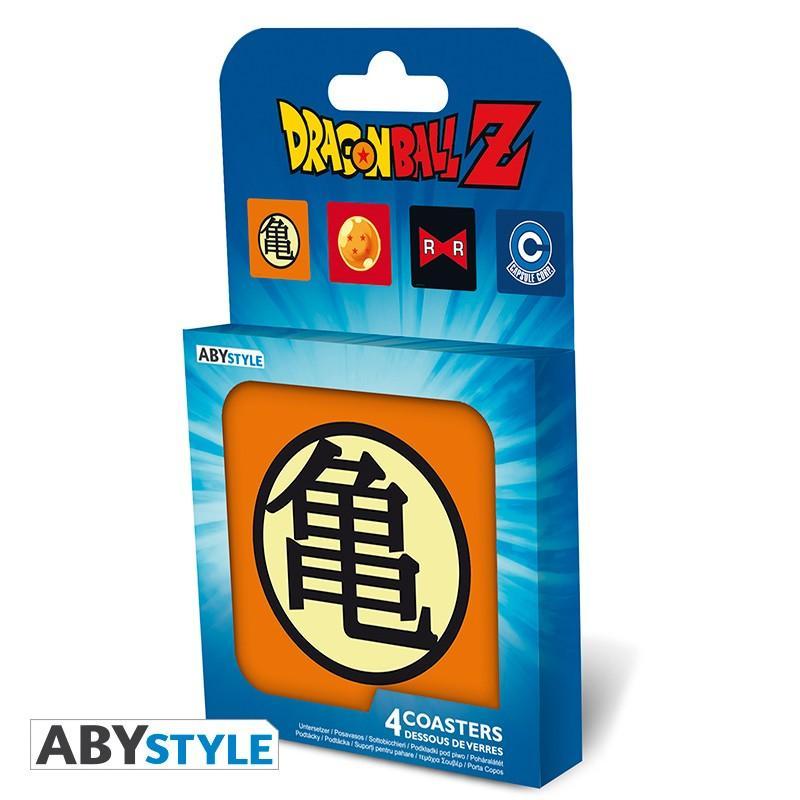 """Underlägg - DRAGON BALL - Set 4 Coasters """"Symbols"""""""