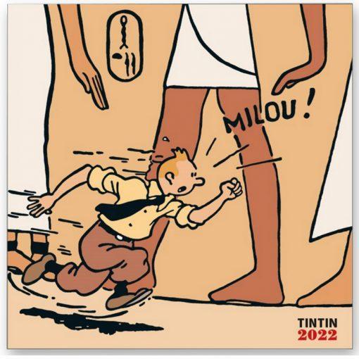 Tintin - Kalender 30 x 30 cm 2022