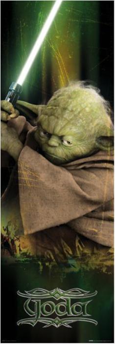 Poster - Star Wars - Yoda (dörraffisch)