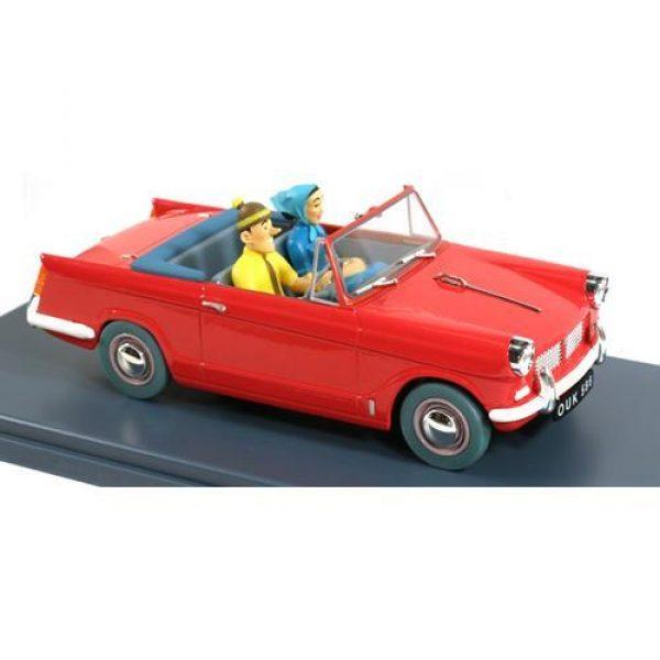 Tintin - 1:24 Modellbil #52 - Turist Röd bil