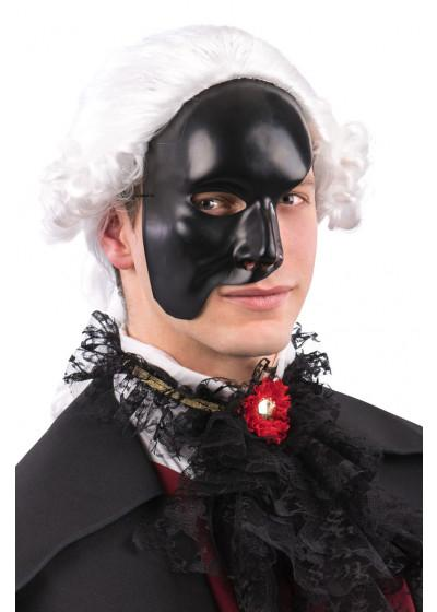 Ansiktsmask - Half face black Phantom of the opera mask