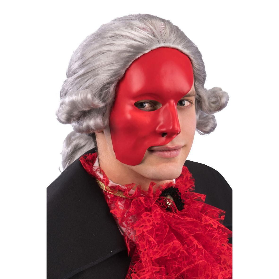 Ansiktsmask - Half face Red Phantom of the opera mask