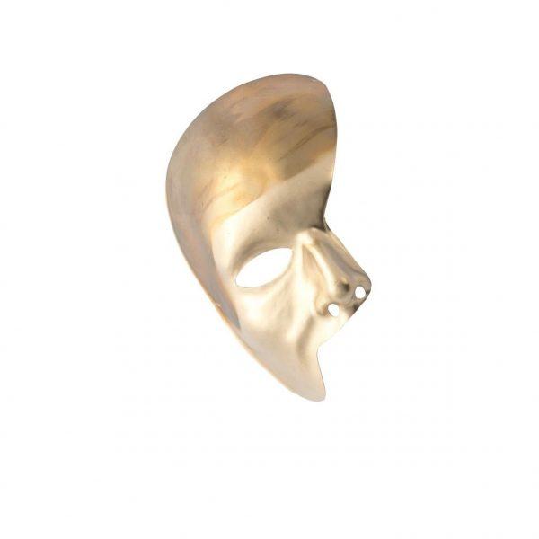 Ansiktsmask - Half face Gold Phantom of the opera mask