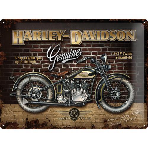 Metallskylt 30×40 cm Harley-Davidson, 1933 V-Twin