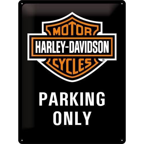 Metallskylt 30×40 cm Harley-Davidson, Parking only