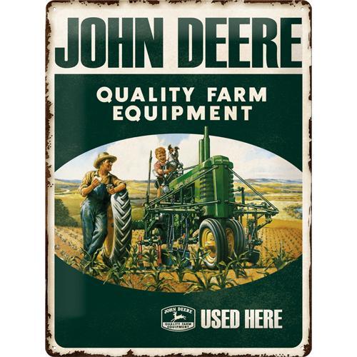 Metallskylt 30×40 cm John Deere, Used Here