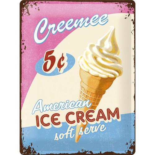 Metallskylt 30×40 cm American Ice Cream