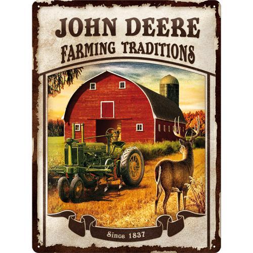 Metallskylt 30×40 cm John Deere, Farming Traditions