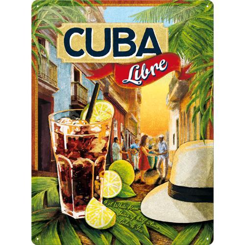 Metallskylt 30×40 cm Cuba libre