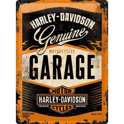 Metallskylt 30×40 cm Harley-Davidson, Garage