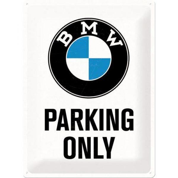 Metallskylt 30×40 cm BMW, Parking only
