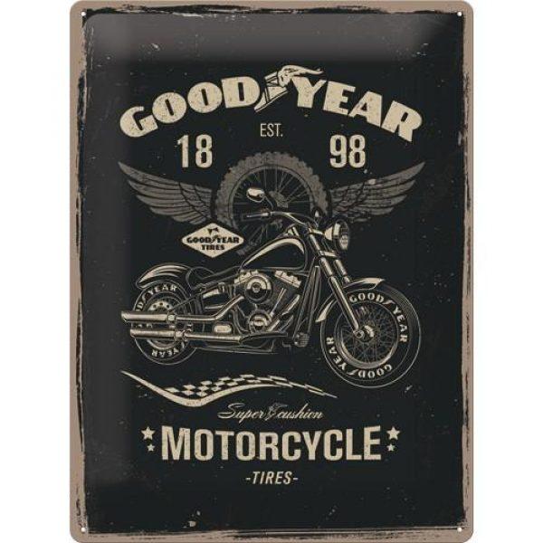 Metallskylt 30×40 cm Best Garage, GoodYear motorcycle