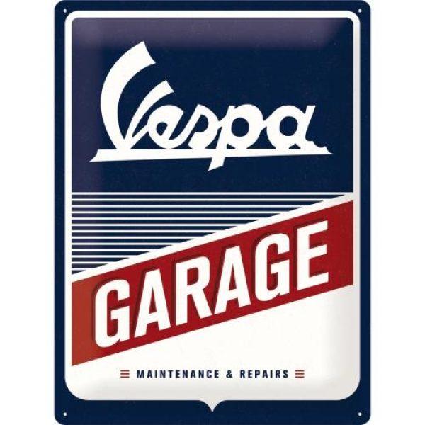 Metallskylt 30×40 cm Vespa Garage