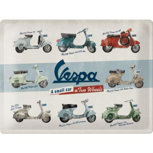 Metallskylt 30×40 cm Vespa Models